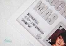 Ramka podziękowanie dla rodziców na ślub