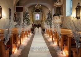 Dekoracja ślubna kościoła - Luzino