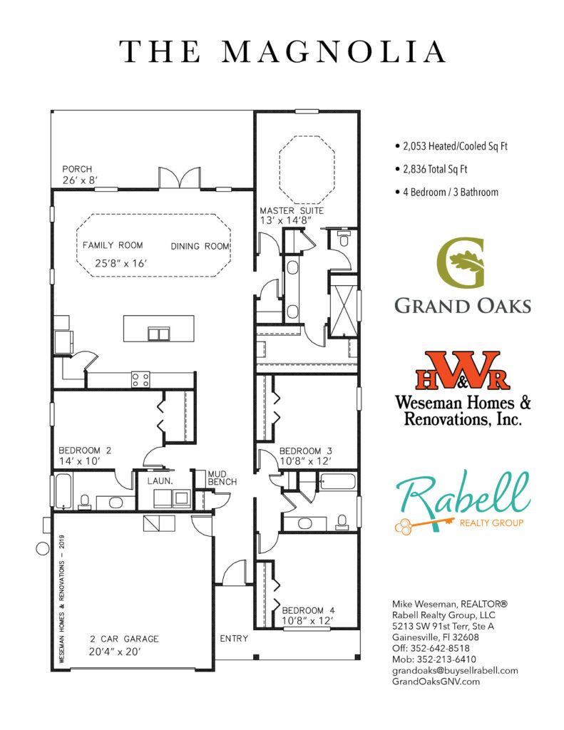 Grand Oaks Floor Plans - Magnolia
