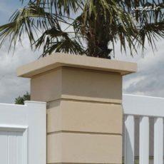 pilier et poteau chapeau de pilier