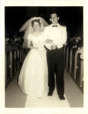 Sam and Linda Baty's wedding photo.
