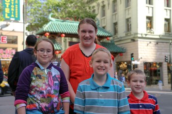 The Family at Chinatown in San Francisco