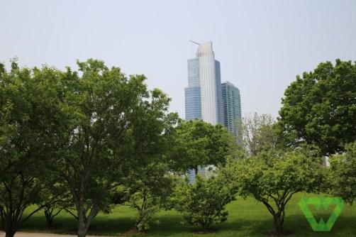 Chicago City Skyline from Millennium park