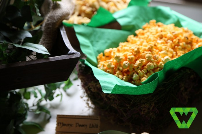 """We used both cheese popcorn and Cheetos for """"Mount Doom Lava"""" depending on which kid's birthday it was."""