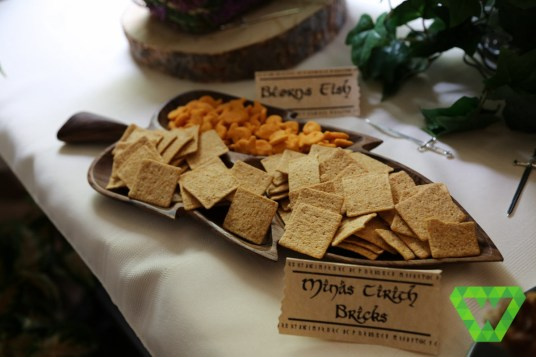 Beorn's Fish (goldfish) could have been called Gollum's fish but we already had Gollum's worms. Wheat thins were given the random name of Minas Tirith Bricks... I dunno if that's the best name of them.