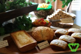 The breads look so nice before being cut. The breads could be made ahead of time and kept in airtight containers.