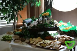 The food table (minus the chicken)