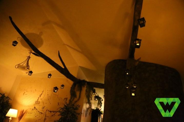 Tree limbs and lanterns