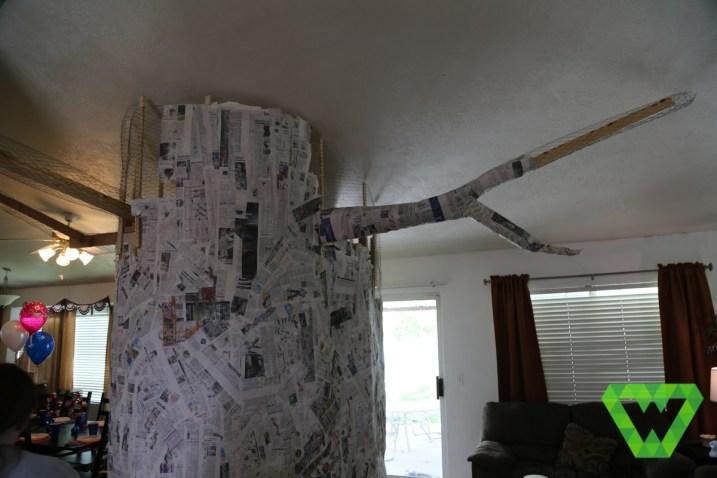 Paper mache tree & structure