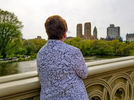 Enjoying NY Central Park with Grandma