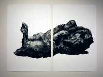 Untitled (Wolf on Back)