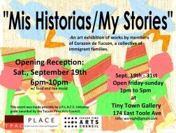 Flyer for the Art Exhibition Featuring Artwork from the Resolution Project