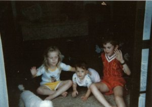 A young Wez G with his sister Melanie and cousin, Karla