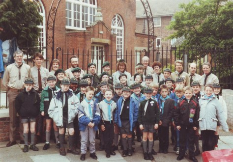 The group ready for District St. George's Day, sometime in the  1990s!