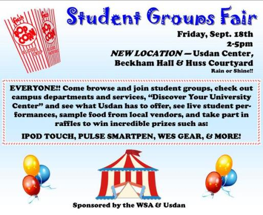 Student Groups Fair