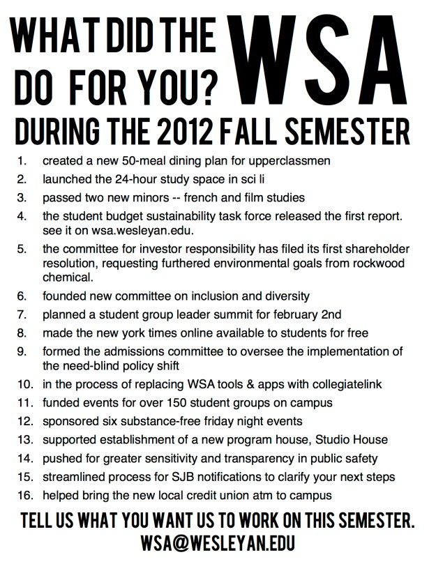 Fall 2012 Accomplishments