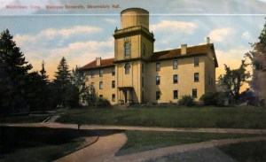 Observatory Hall, from a postcard.