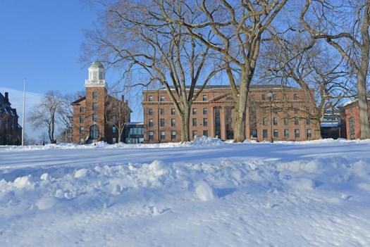 Wesleyan's campus, Jan. 2, 2013.