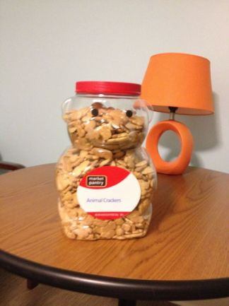 Email irode[at]wesleyan[dot]edu with a FABULOUS NAME for  animal-cracker-filled bear-- and like the Shapiro FB page-- and if your name is the best, you'll win a prize!