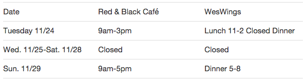 swings / red and black thanksgiving hours