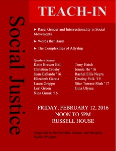 Social Justice Teach-In Flyer