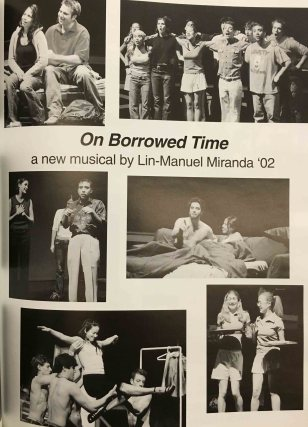 Yeah, we're totally gonna give this Lin-Manuel guy an entire page in the yearbook, he seems pretty cool. ALEXANDER HAMILTON SOMETHING.