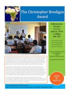 brodigan award poster