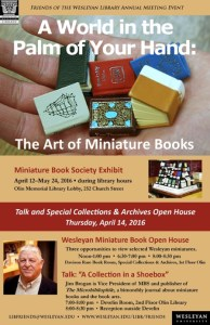 miniature books poster