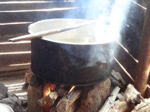 How the food is typically prepared - wood is pretty much the only fuel accessible by the poor.