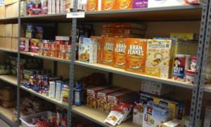 Goods storage at Võru food bank (Võru Toidupank) await distribution to those in need.