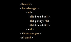 If HTML programming were a hamburger.