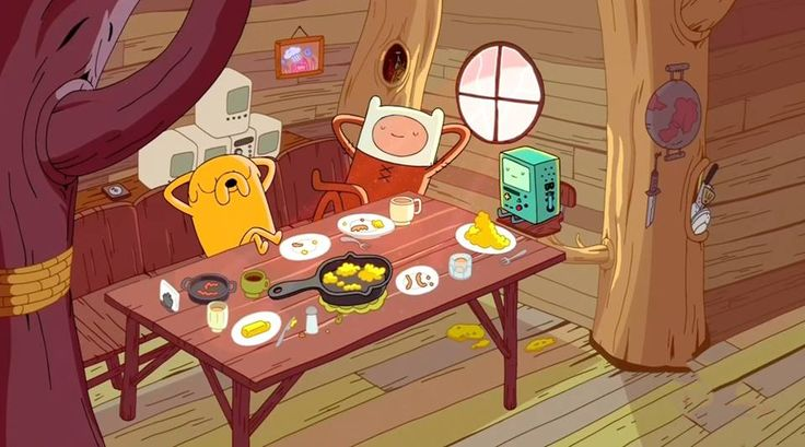 "From ""Adventure Time""."