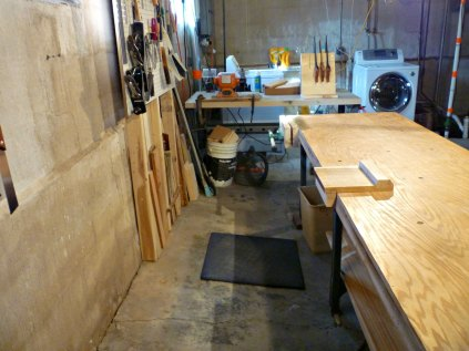 The main work space. Actually, I find I move around the whole bench, working from either side depending on what feels right. There's enough space back there to use back saws comfortably, and all my tools are in easy reach.