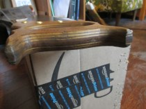 Plywood handle.