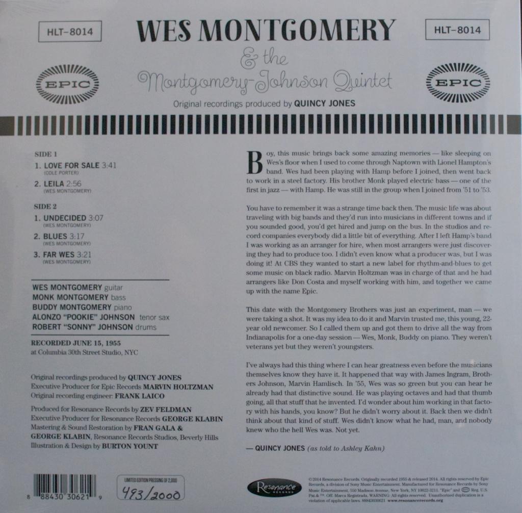 Montgomery-Johnson Quintet (1955) Rückseite