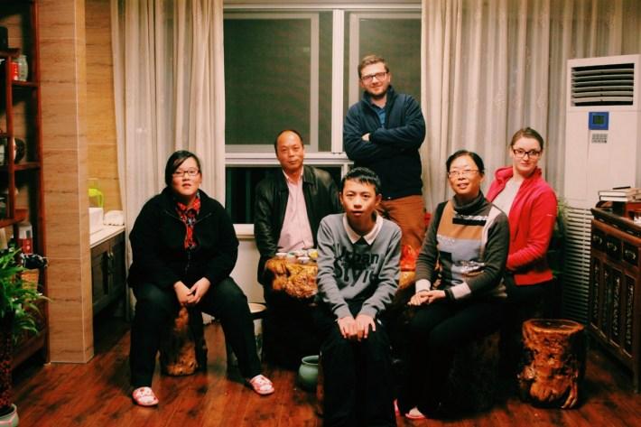 z rodziną Lee