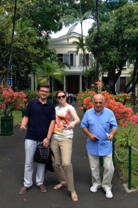 z Panem Darkiem i moją przyszłą żoną w Sądzie Najwyższym Mauritiusa