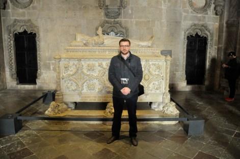 przy grobie Vasco da Gamy z klasztorze Hieronimitów