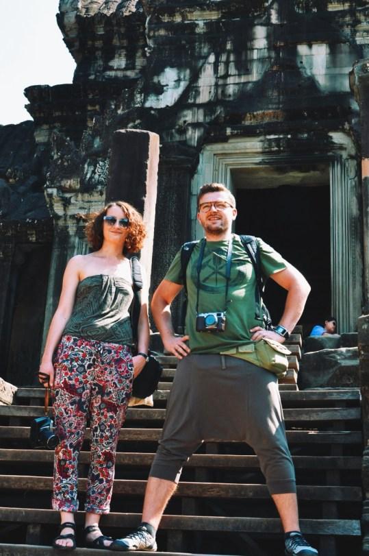 z siostrą w Angkor Wat