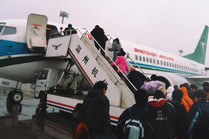 na lotnisku w Wenzhou - lot Shenzhen Airlines do Pekinu