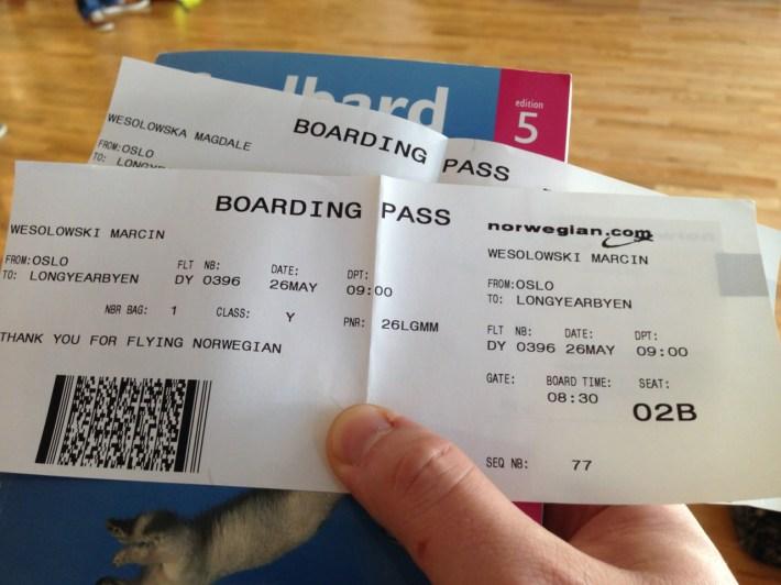 bilety Oslo - Longyearbyen