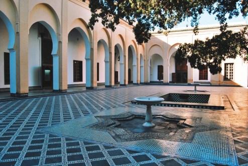 ogrody nieopodal pałacu królewskiego