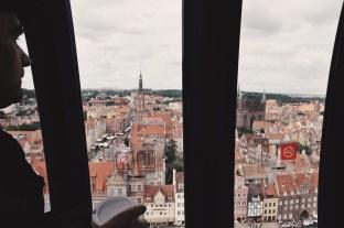 Gdańsk widziany z góry - w kabinie