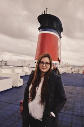 Madzia na pokładzie Stena Spirit