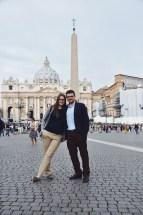 z Magdaleną na placu św. Piotra