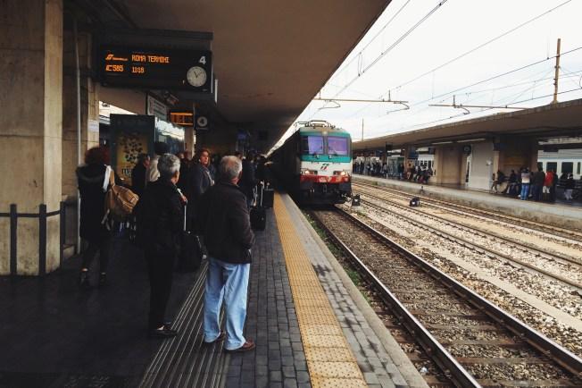 Bolonia Centrale, nasz pociąg do Florencji   regionalny