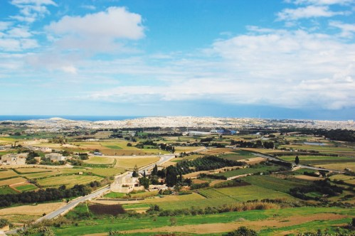 Malta widziana z góry