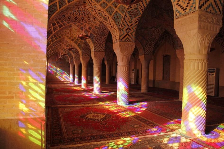 Różowy meczet W Sziraz