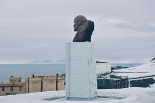 najbardziej północna statua Lenina w Barentsburgu, rosyjskiej osadzie na Svalbardzie