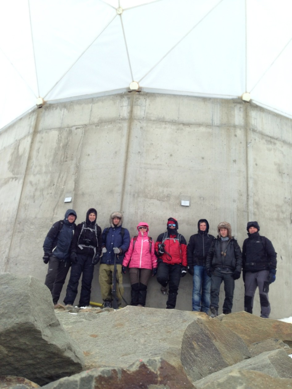 instalacje NASA na Svalbardzie - nasz grupa w pełnym składzie